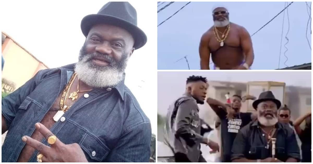 59-year-old veteran Nollywood actor Harry Anwanwu becomes a rapper