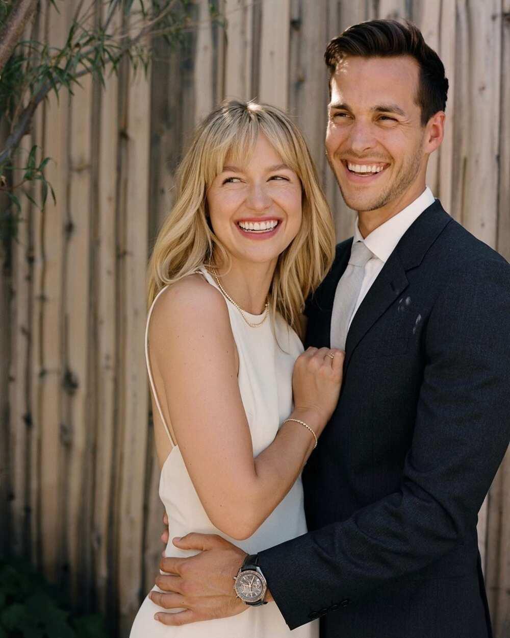 Chris Wood and Melissa Benoist