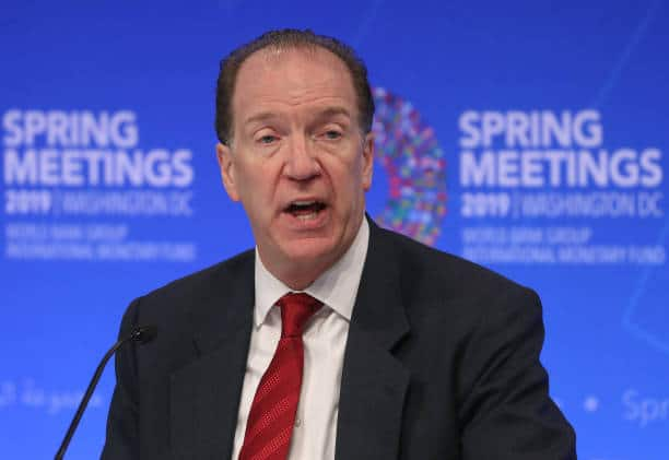 World Bank President Malpass Says G-20 May Extend Debt-Suspension Plan