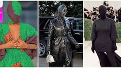 Lady rocking Kim Kardashian-inspired outfit sparks mixed reactions among Nigerians