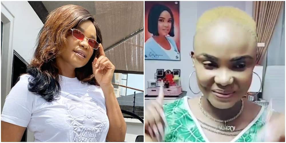 43-Year-Old Actress Iybao Ojo Looks Much Younger As She Goes Blonde, Rocks New Low-Cut Hairstyle