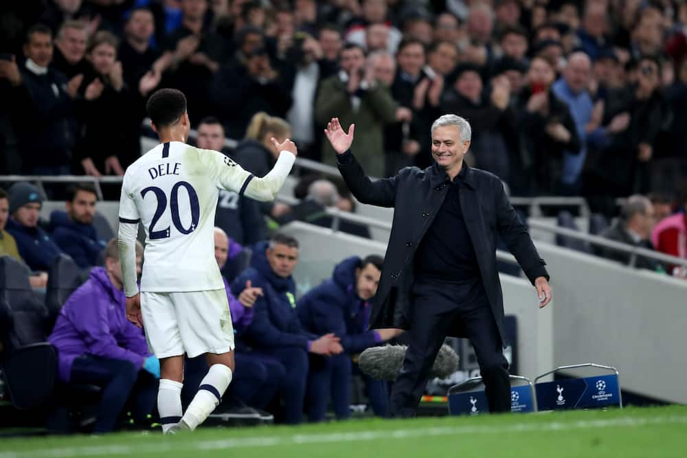 Jose Mourinho and Dele Alli in action for Spurs