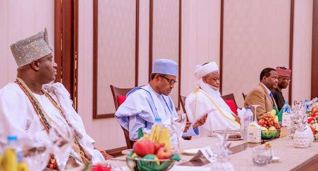 Buhari, Sultan of Sokoto, monarchs meet in Aso Rock