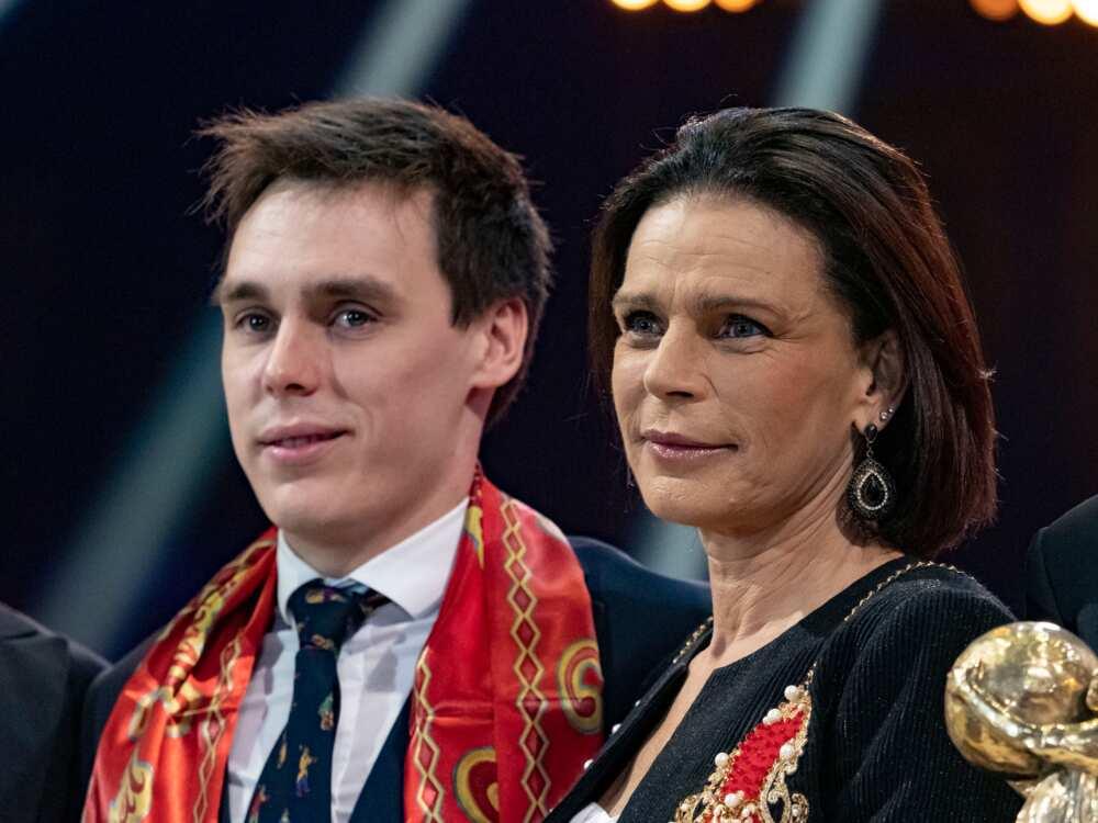 Louis Ducruet et la princesse Stéphanie de Monaco assistent au 44ème Festival International du Cirque le 21 janvier 2020 à Monaco