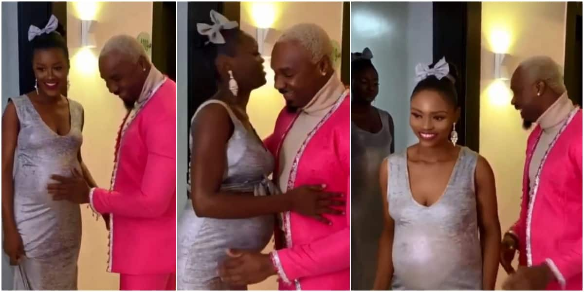 Pretty Mike Makes Wedding Entrance With 6 Heavily Pregnant Women