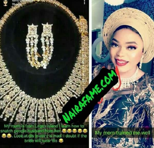 Bobrisky says his mother taught him how to steal peopleâ??s husbands
