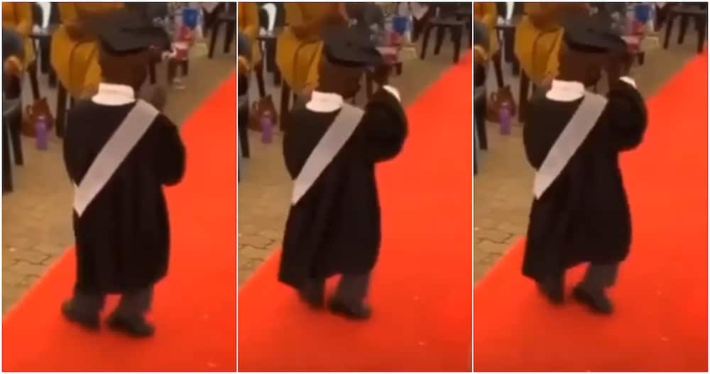 You haven't even started - Social media reacts as little boy celebrates graduation with amazing dance steps on red carpet