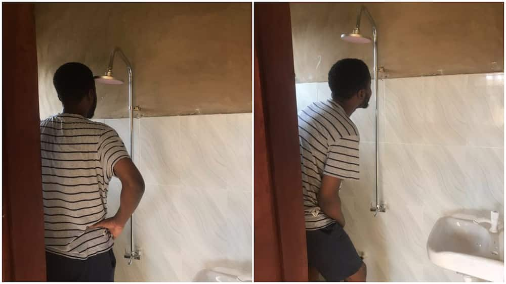 Man shares photos of 700k apartment in Ibadan, see how the bathroom looks