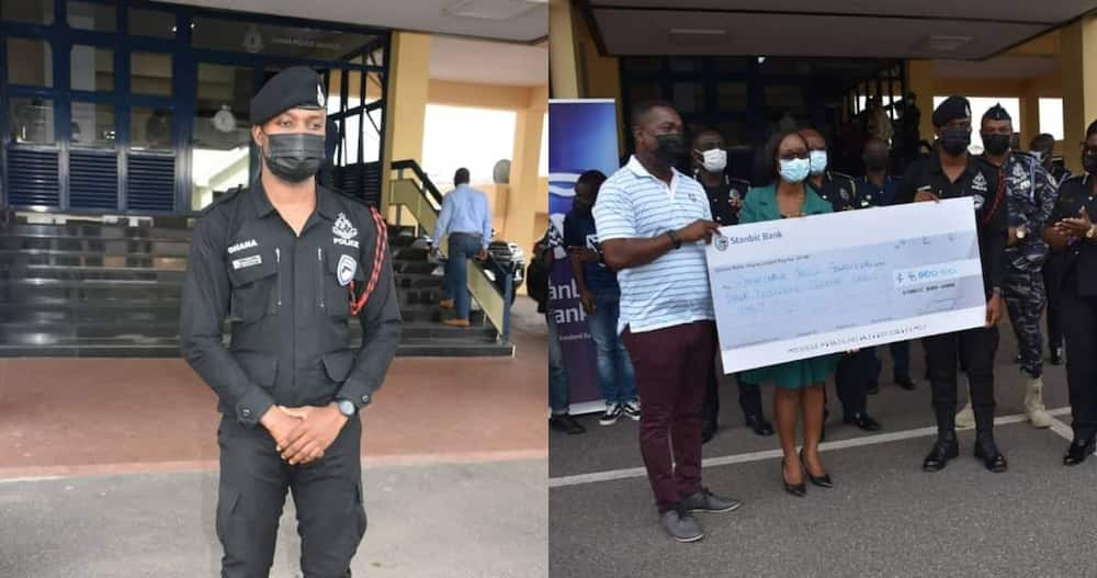 Constable Prince Fordjour: Police Officer Awarded GHc 11,000 for Returning GHc 2,000 Discharged by ATM