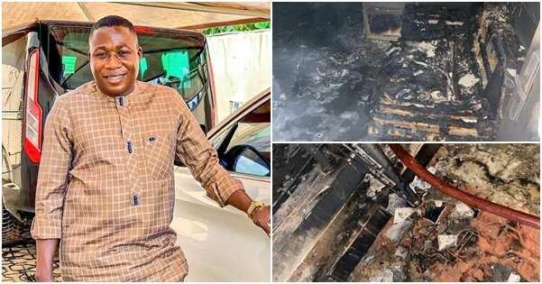 Sunday Igboho says his house was razed down by unknown gunmen