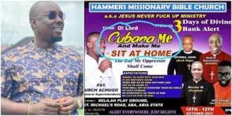 Obi Cubana's name on church flier