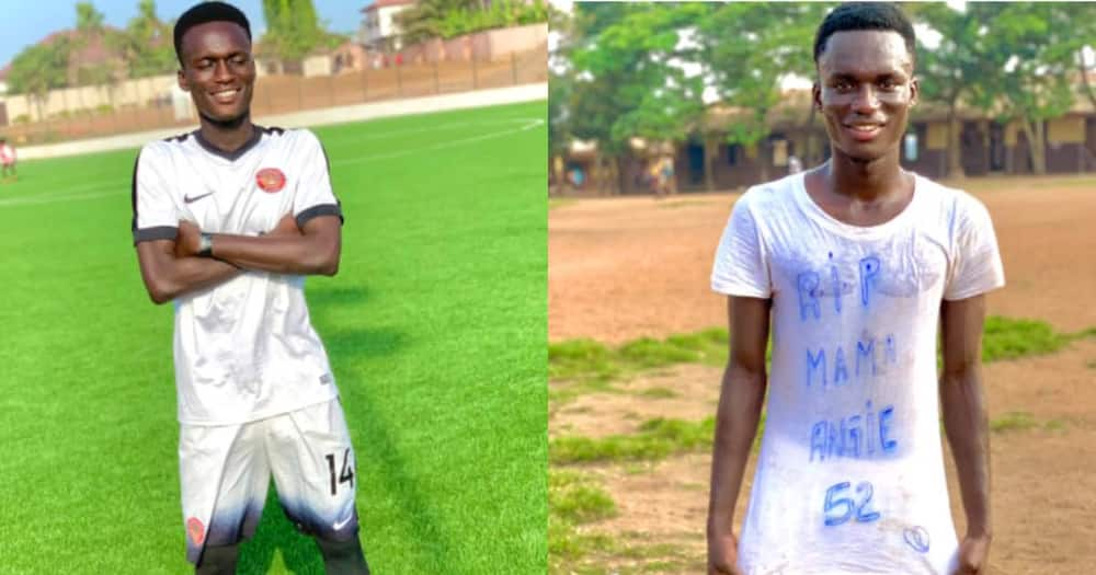 RIP mama, I Dedicate this Goal to her - Gh Footballer Stirs Emotions as he Mark's 4th Anniv of Mom's Death
