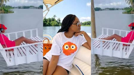 Yvonne Nelson: Actress hangs in the air as she chills at her YN island in new video