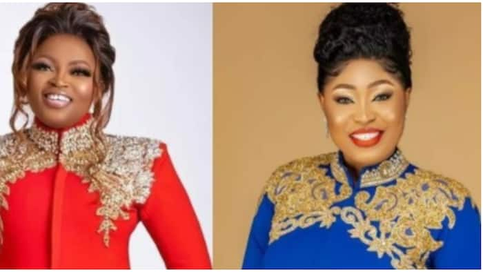 Funke Akindele: Two stylish ladies replicate Nollywood actress' outfits