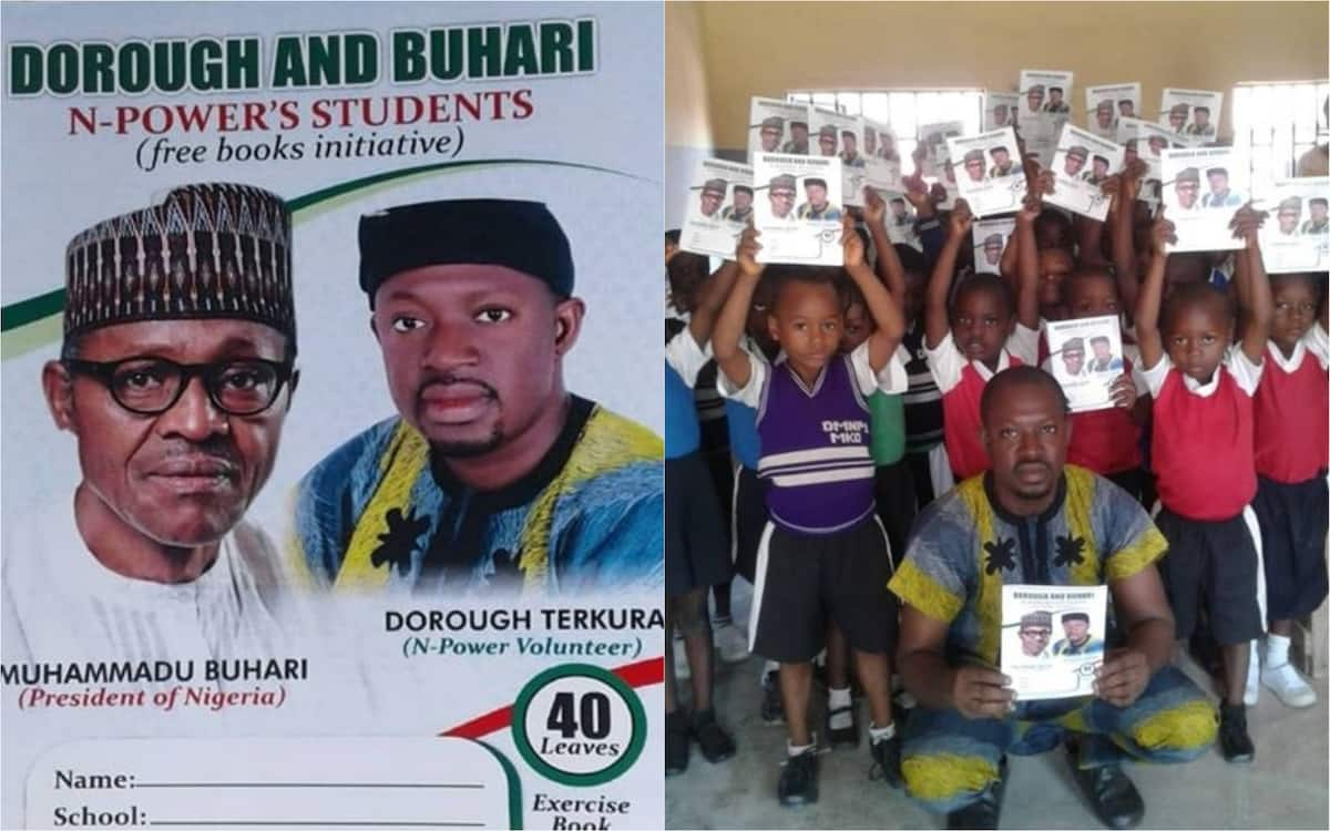 N-Power volunteer provides learning items for students in Benue