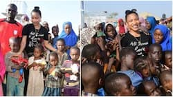 Actress Tonto Dikeh shows love to less privileged kids to mark the new year (photos)