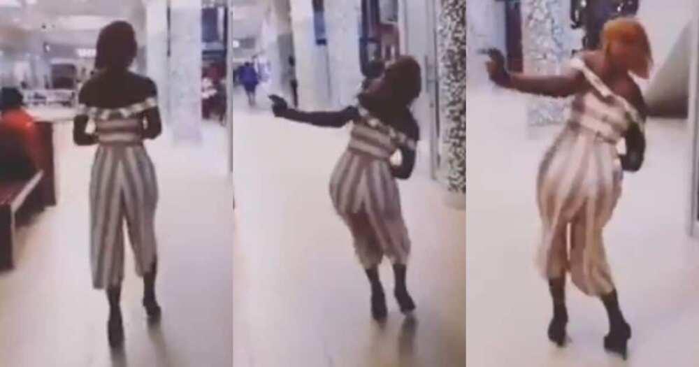 Video, lady, struggling to walk, heels, Mzansi, reacts