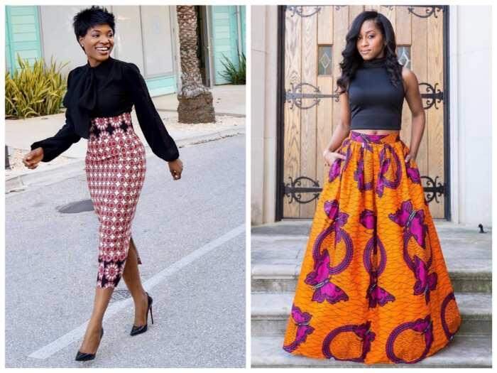 8369b7b2394 Ankara plain and patterned skirt and blouse designs ▷ Legit.ng