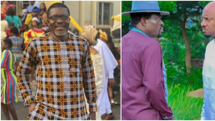 I smell sacrifice: Hilarious reactions as Kanayo O. Kanayo shares face-off photo with Yul Edochie