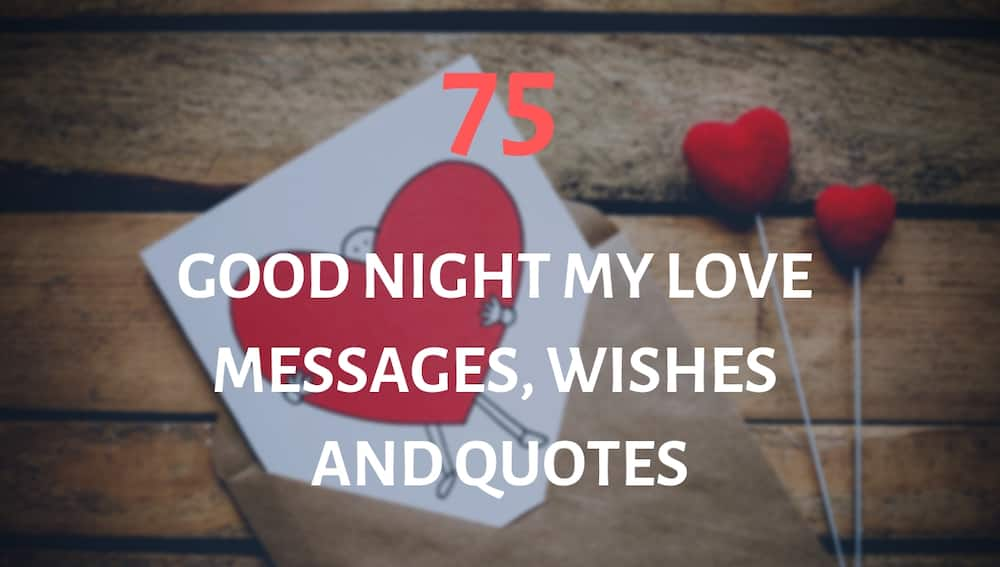 Good night my love messages
