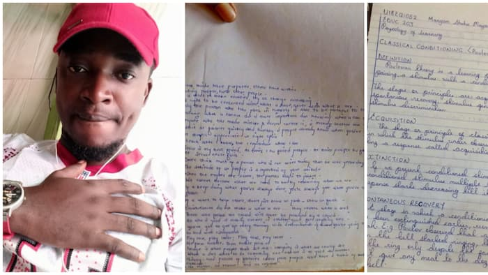 Nigerian man challenges people with his fine handwriting that looks like computer font, asks them to a contest