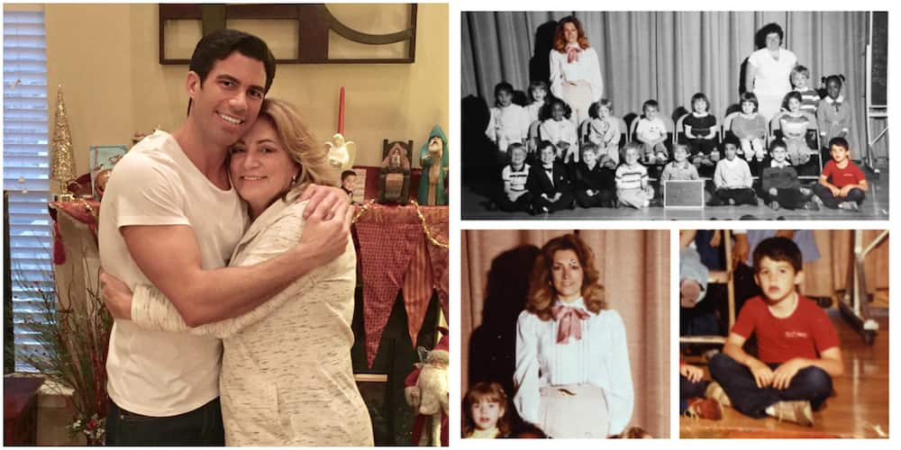 Emotional Photos as Man Reunites with His Elementary School Teacher after 30 Years, She Surprises Him