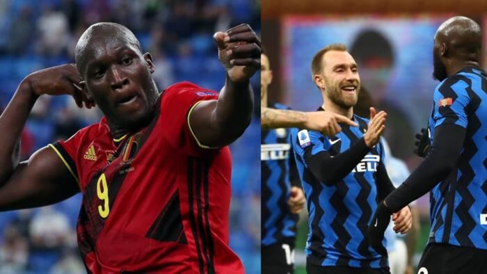 Lukaku pays touching tribute to Christian Eriksen as Inter Millan star collapse during EURO 2020 opener