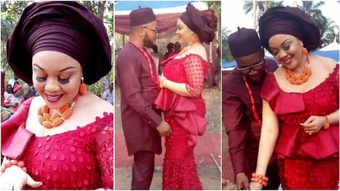 Nnamdi Kanu's brother ties the knot with beautiful bride Chioma in Abia state (photos)