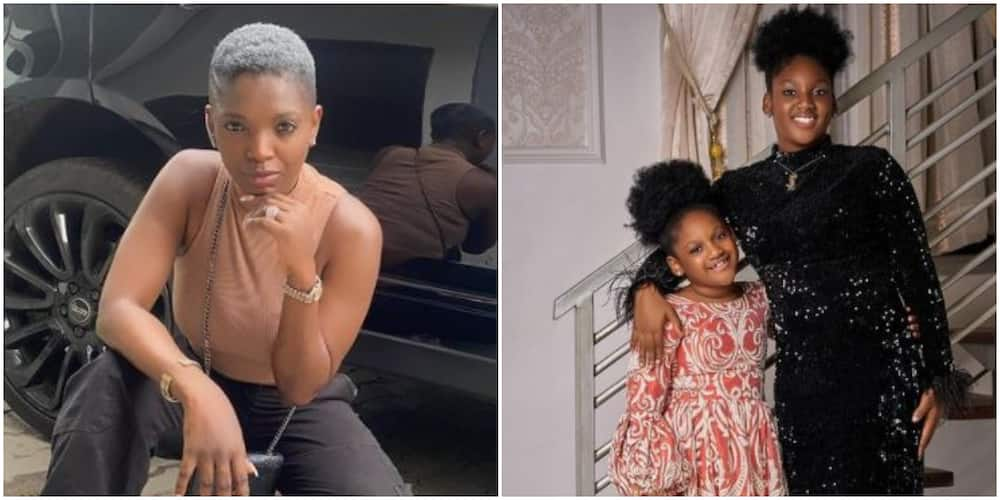 Annie Idibia and her daughters