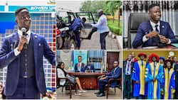 Nigerian student celebrates as he becomes vice chancellor of his university, shares adorable photos
