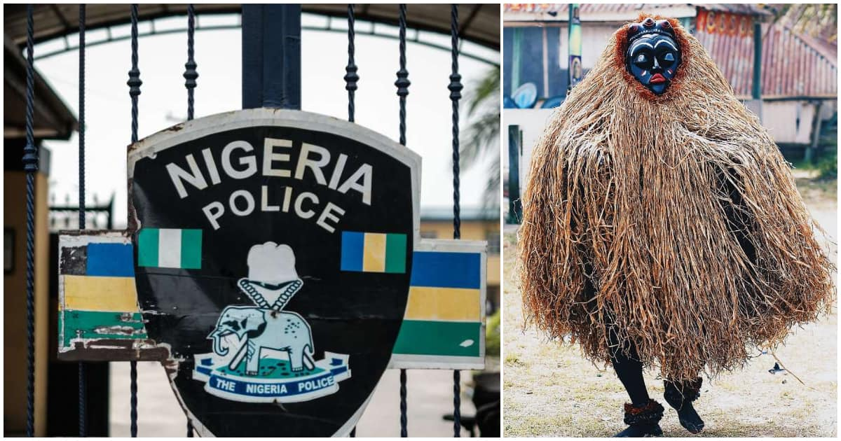Police arrest masquerade after gathering people for festival in Ogun state