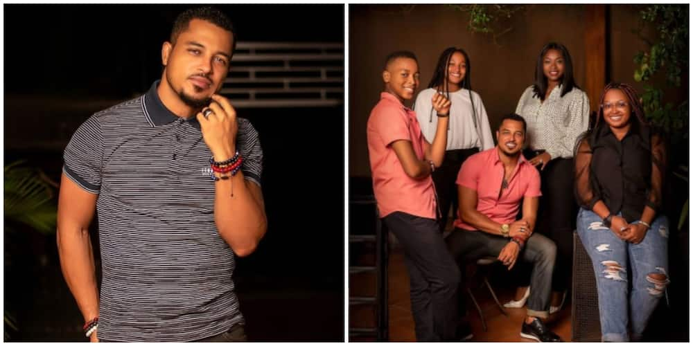 Photos of Van Vicker and his family.