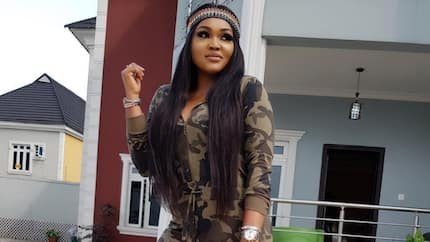 I am a phone addict - Mercy Aigbe says as she dazzles fans in casual camouflage outfit