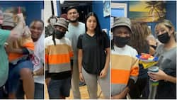 Nigerian man opens tattoo shop in US, gets emotional in video as Oyinbo people gather to celebrate with him