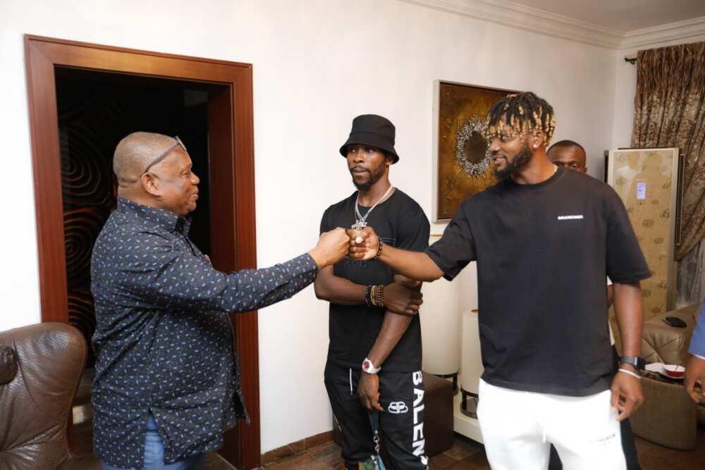 Kelechi Iheanacho and 1 other Super Eagles star visits Nigerian senator