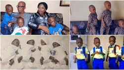 Rescue us, taking care of quadruplets is not easy - Top govt worker begs Nigerians for help as kids celebrate 3 years (photos, video)