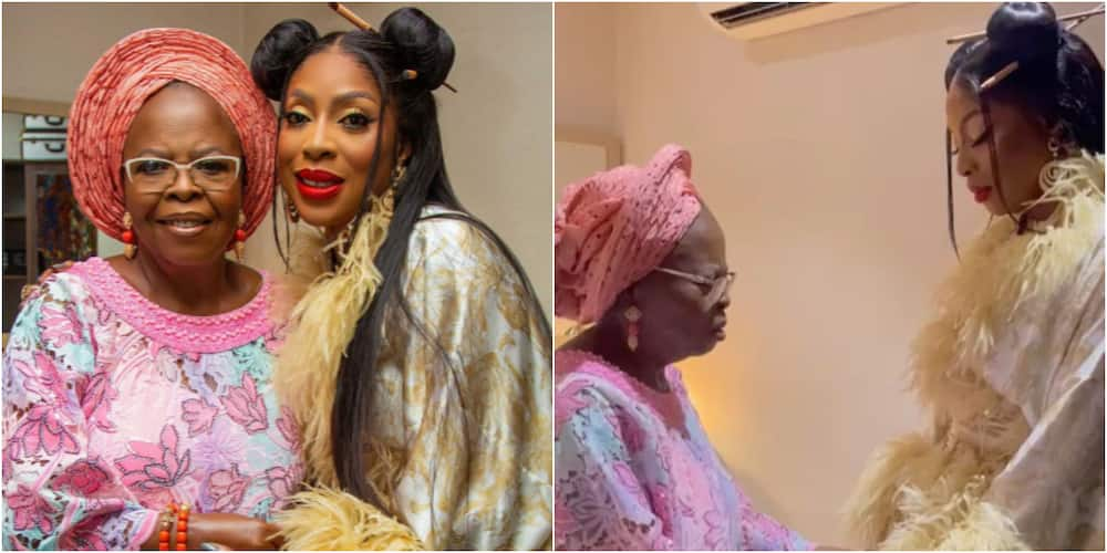 Mo Abudu and her mother