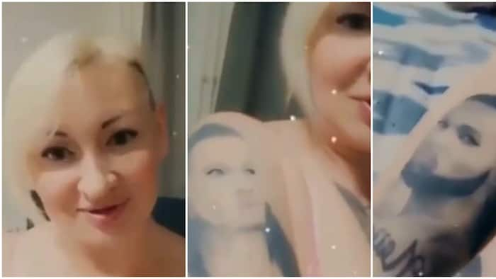 I like his songs, he's the best: Russian woman gets 2 tattoos of singer Flavour on her body