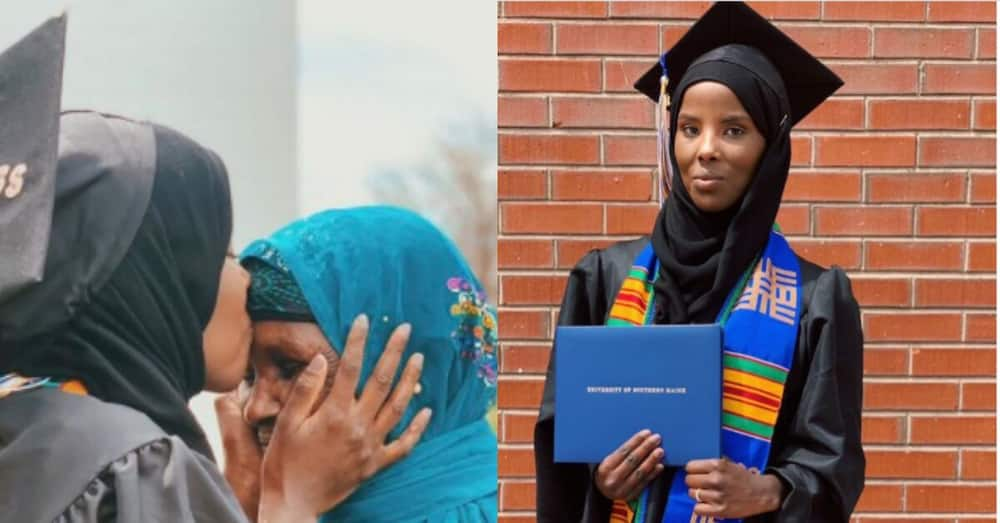 Former refugee born during civil war becomes 1st person to graduate in her family