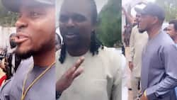 Super Eagles legends Kanu and Emenike spotted together doing the Igbo handshake in part 2 of celebration