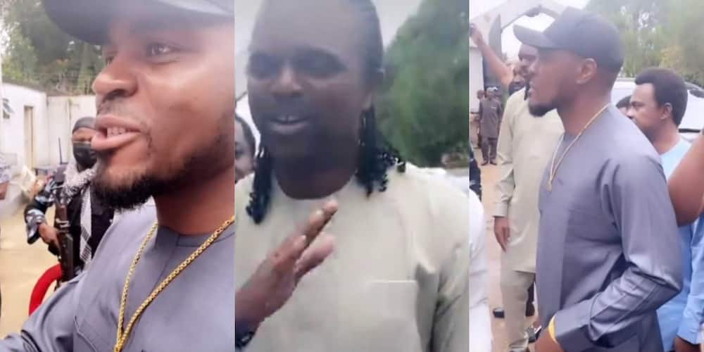 Super Eagles Legends Kanu And Emenike Spotted Together Doing Igbo Handshake in Part 2 of The Celebration