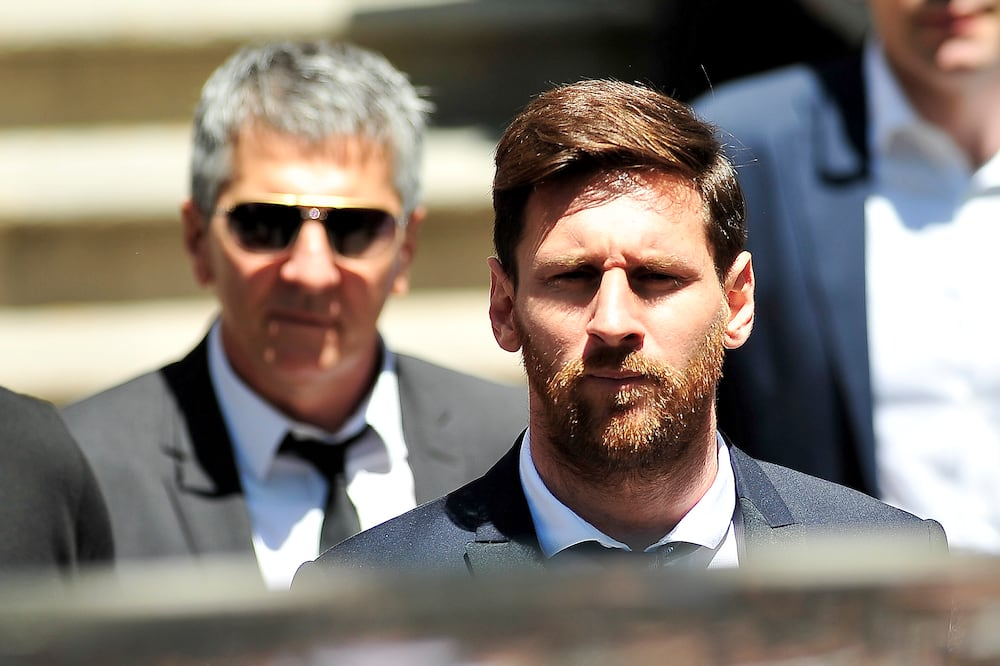 Lionel Messi and his father Jorge in action