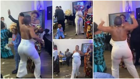 Woman on armless jumpsuit 'scatters' birthday party with weird marching dance moves, video stirs huge reactions