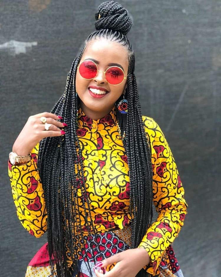 Best cornrow hairstyles for round faces