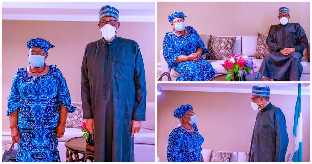President Buhari meets Okonjo-Iweala