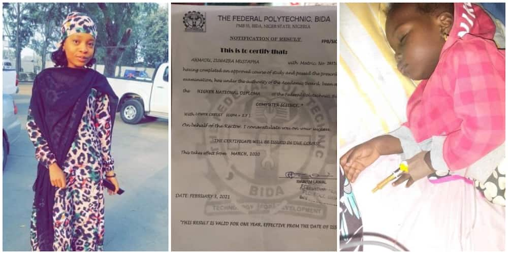 Nigerian Lady Cries out, Begs for Help to Save Her Daughter's Life, Shares her Last Certificate, Many React