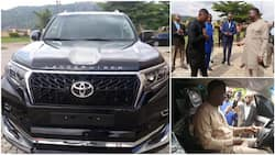 Reactions as Winners Chapel church member gifts his pastor N55m brand new land cruiser, photos go viral