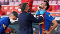 Barcelona superstar rushed to the hospital after suffering a head injury during Atletico Madrid draw