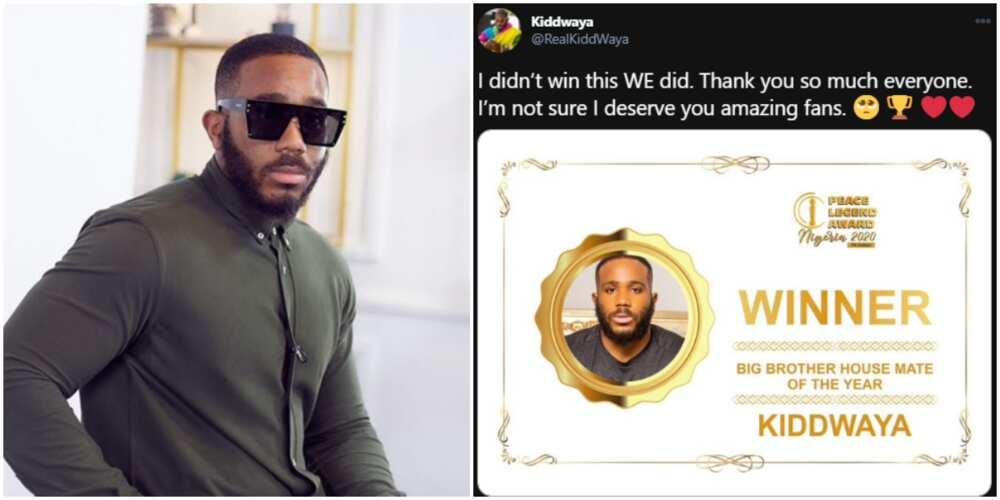 BBNaija: Kiddwaya wins Big Brother Housemate of the Year award