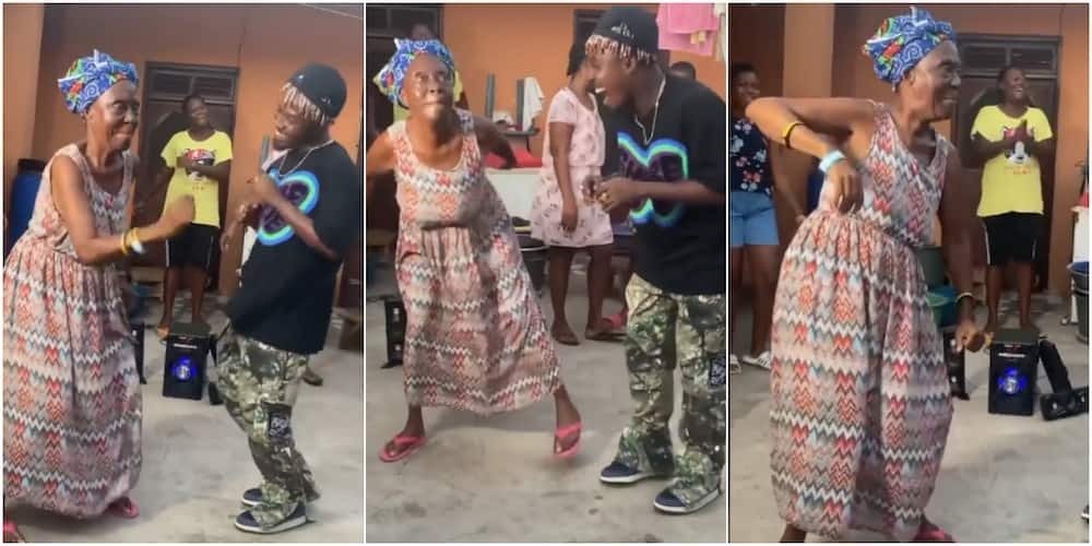 The granny entertained audience with her amazing dancing skills